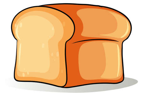 Big loaf of bread on a white background