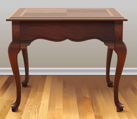 smooth legs: Brown wooden table in the house