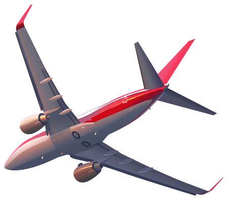 jets: A plane on a white background Illustration
