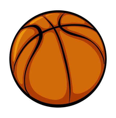 An orange ball on a white background