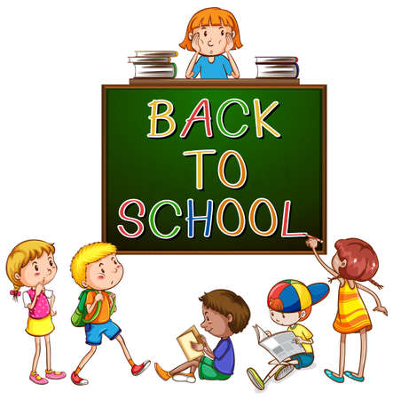 capitalized: Back to school signboard on a white background
