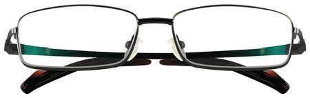 eyewear glasses: Piece of eyewear on a white background Illustration