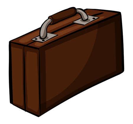 attache: Big brown attache case on a white background