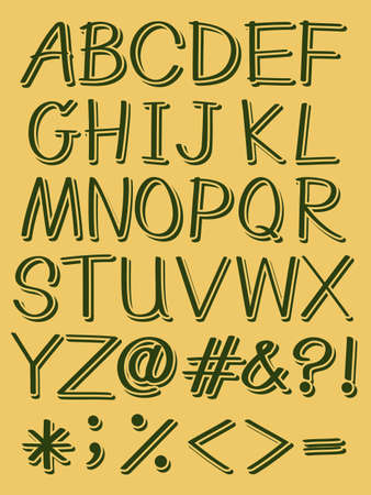bundle of letters: Set of capital letters of the alphabet