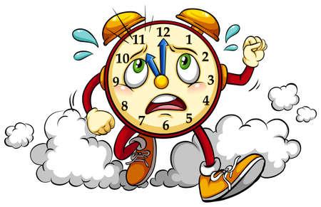 alarming: Reloj que muestra la hora und�cima sobre un fondo blanco