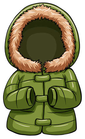 Green body warmer on a white background Illustration