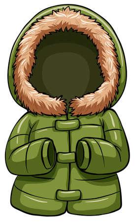 warmer: Green body warmer on a white background Illustration