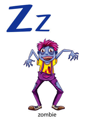 letter z: Letter Z for zombie on a white background