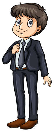 businessman shoes: Man in a formal attire on a white background Illustration