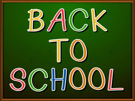 Back to school sign on a board Vector