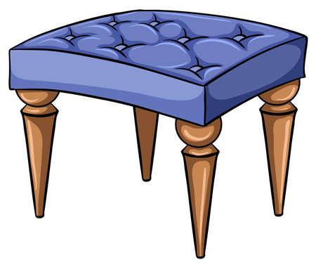 ergonomie: Chair M�bel mit vier steht auf einem wei�en Hintergrund