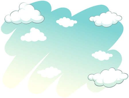 clouds: Clouds in the sky on a white background Illustration
