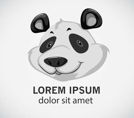 stocky: Head of a panda on a white background Illustration