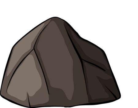 enlaces quimicos: Una roca gris sobre un fondo blanco