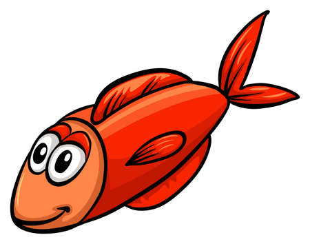 ectothermic: One red fish on a white background
