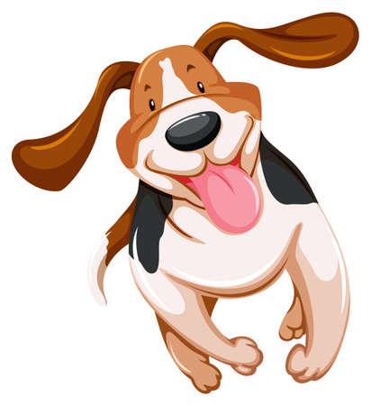 bestfriend: One playful puppy on a white background