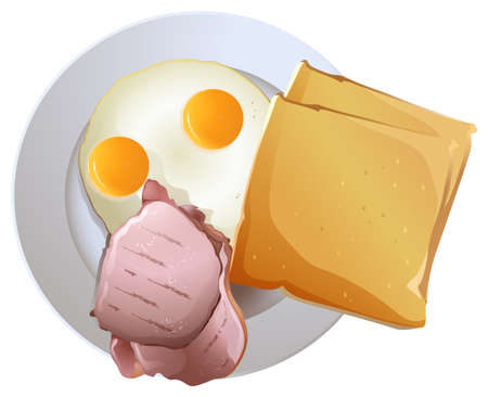 packaged: Plate with foods on a white background
