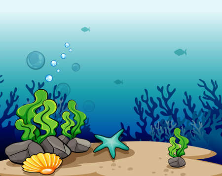 interactions: View of a deep sea Illustration