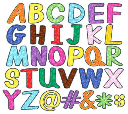 upper case: Set of upper case alphabets and symbols