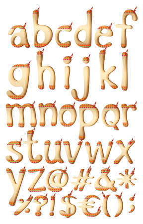 d a r e: Small letters of the alphabet with Indian artwork on a white background