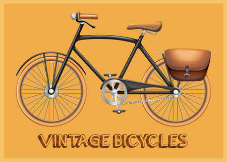 postcard: Poster of a viantage bicycle