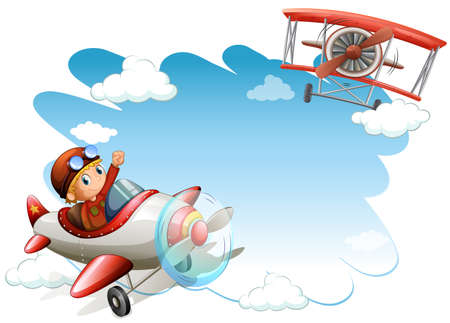 jets: Two flying jets on a white background Illustration