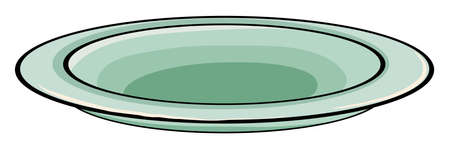 plate of food: An empty plate on a white background Illustration