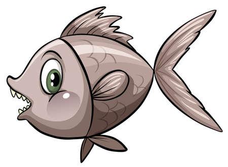 deep water: Flashcard of a deep water fish