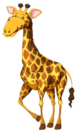 cute giraffe: A standing cute giraffe illustration