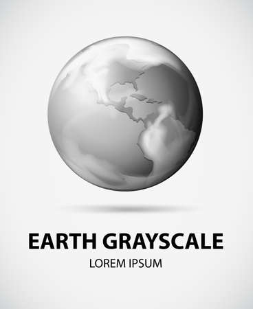 Picture of the Earth in grayscale