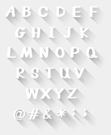 paper graphic: Alphabets in white color on white background