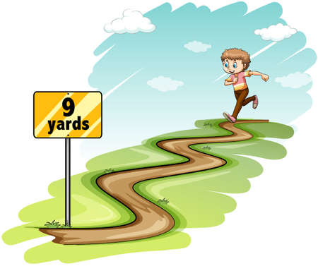 yards: Boy running the whole nine yards