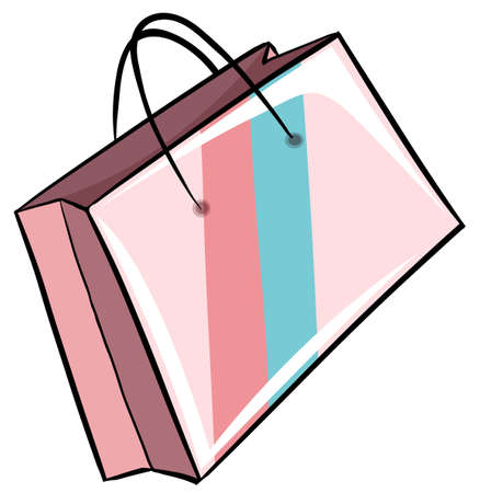 polythene: Paper bag use in carrying stuff Illustration