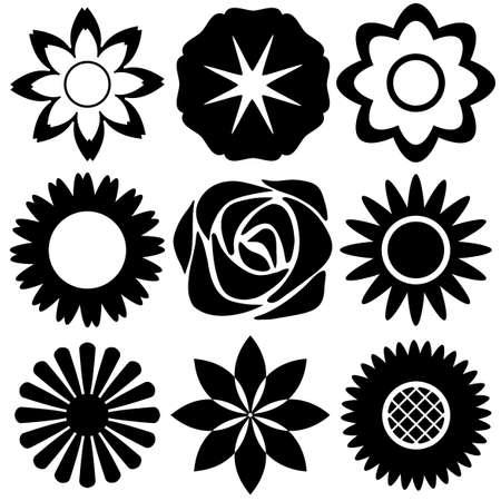 Different designs of flower patterns