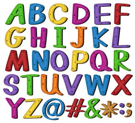 Set of alphabets and symbols