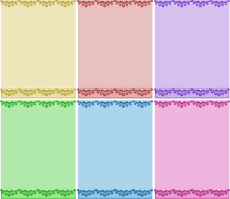 blank papers: Colorful blank papers with designs