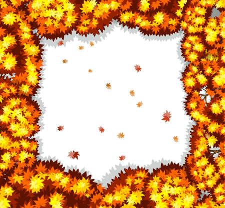 hojas de oto�o cayendo: Marco de las hojas de oto�o que cae