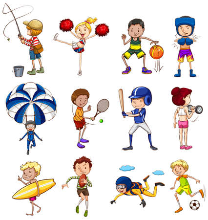 surf team: Set of sports and activites