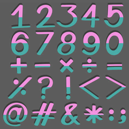 numbers: Set of numbers and signs