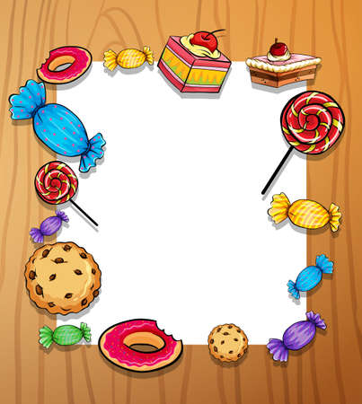postre: Marco de dulces y postres