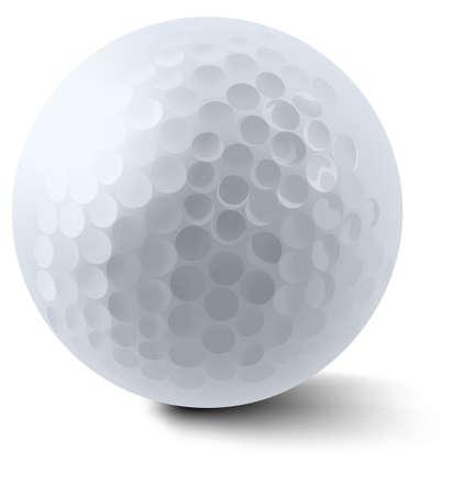 cartoon golf: White golf ball on white background