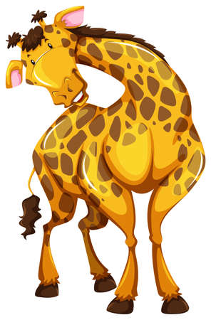 wild living: Cute giraffe in a bending neck pose