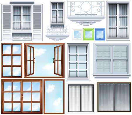 balcony window: Different designs of windows pattern