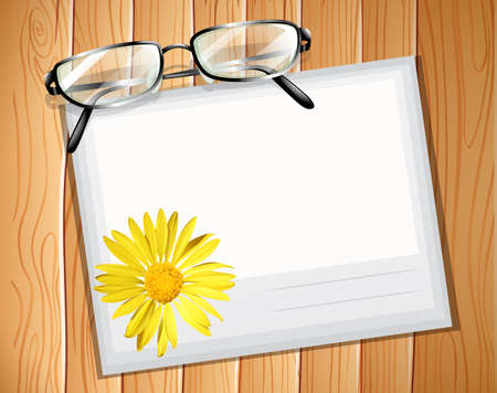 envelop: Envelop with a pair of spectacles Illustration