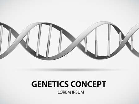 genetic research: Poster of genetics concept in grayscale