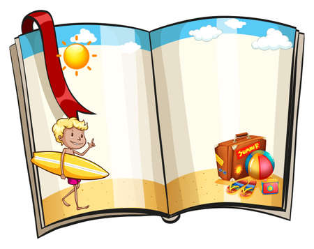 beach bag: Blank pages with beach theme design