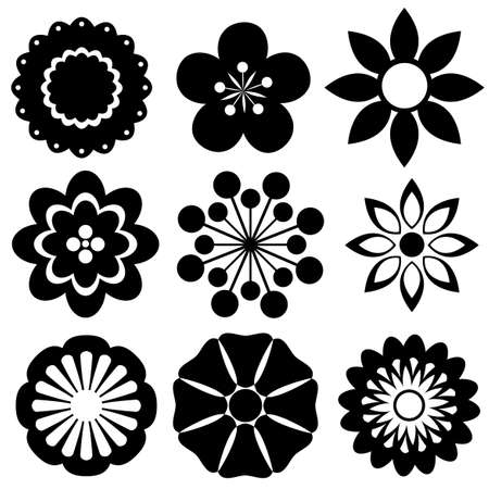 155787 black and white flower cliparts stock vector and royalty black and white flower design samples mightylinksfo