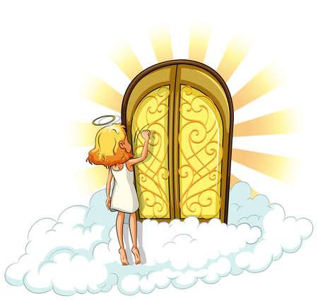Ángel llamando a la puerta cielos