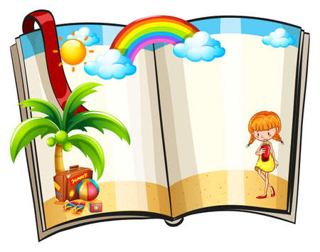 picture book: Picture book with girl on the beach