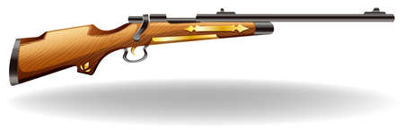 closeup: Closeup classic design of wooden rifle